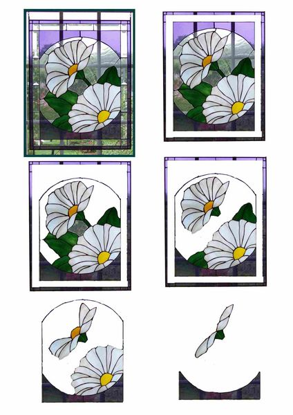 Stained Glass Effect Set 20 Decoupage - 1 x A4 Page to DOWNLOAD